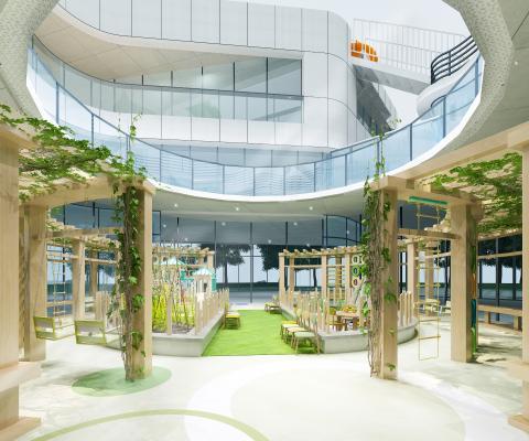 北欧幼儿园娱乐大厅 座椅
