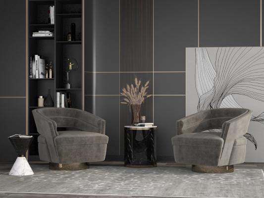 后现代单人沙发组合