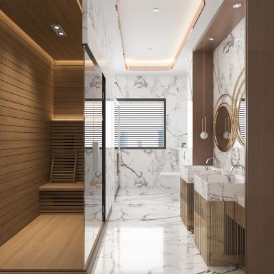 现代卫生间 卫浴 淋浴间 洗手盆 镜柜 马桶