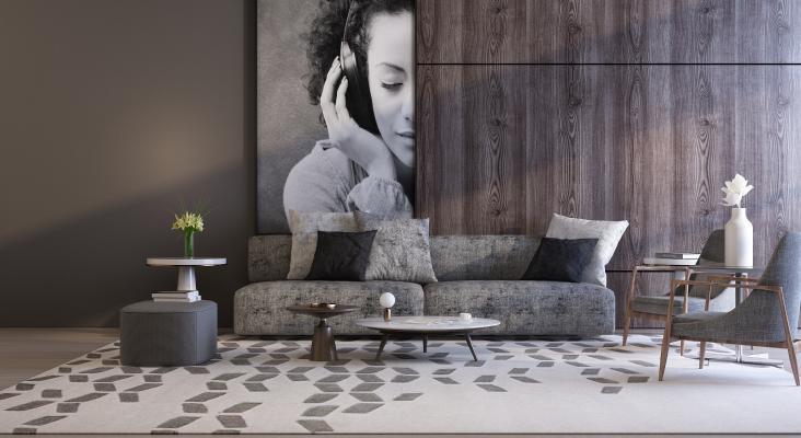 现代沙发茶几组合 边几 单椅