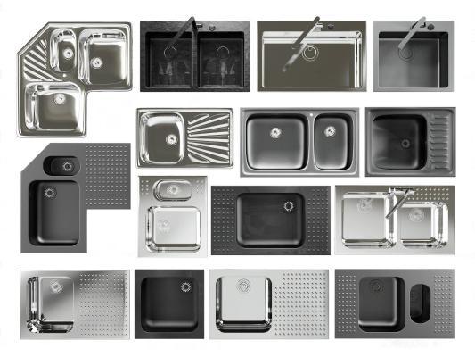 现代厨房洗菜盆