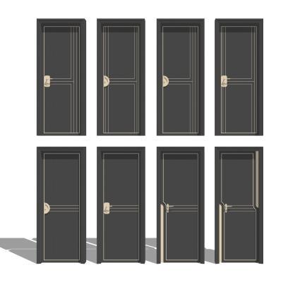 现代卧室 单开门组合