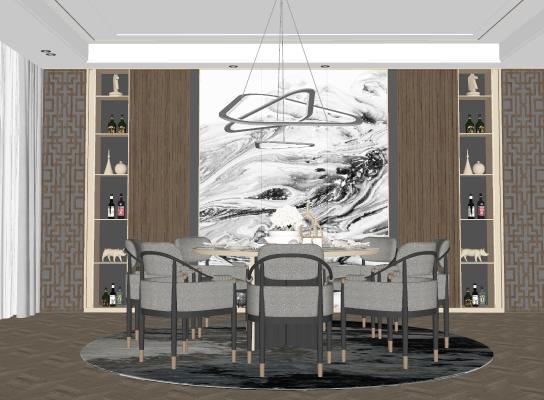 新中式风格家居餐厅