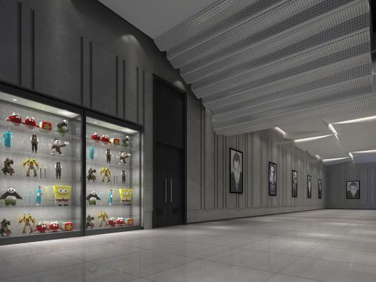 现代展厅过道