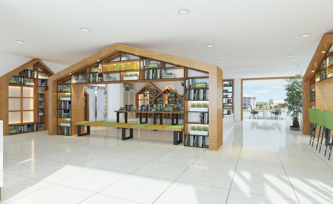 现代图书馆 休闲书吧