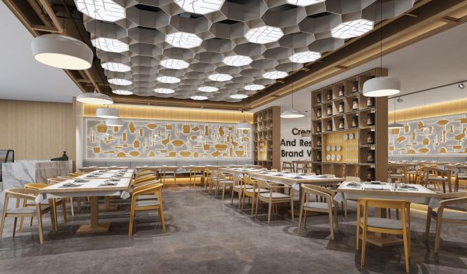 现代北欧港式茶餐厅快餐店