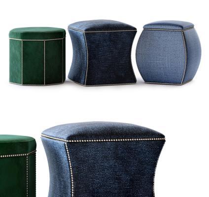 美国Bernhardt现代沙发凳 脚凳 凳子