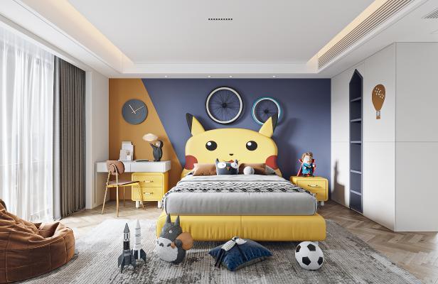 現代兒童臥室