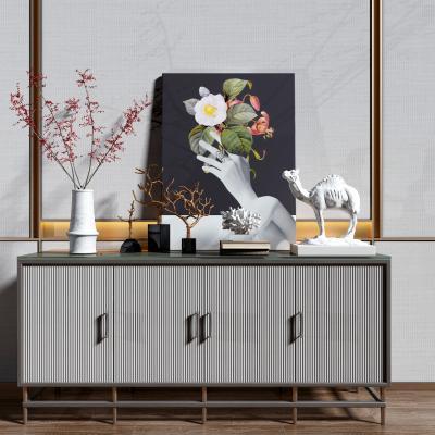 现代轻奢装饰柜 摆件组合