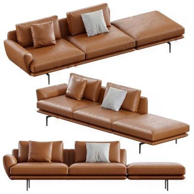 现代皮革沙发