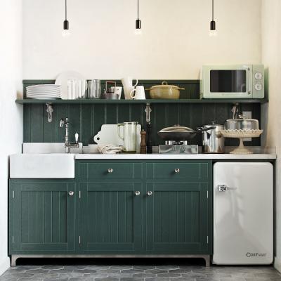 北欧风格餐柜 冰箱 铁锅
