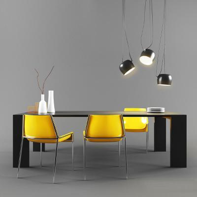 現代餐桌椅組合 吊燈