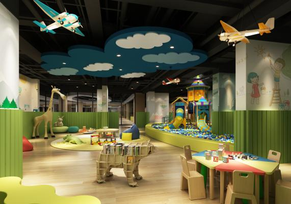 工业风娱乐空间 儿童游乐园