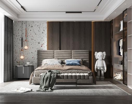 现代卧室 父母房