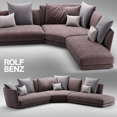 德国Rolf Benz现代转角沙发