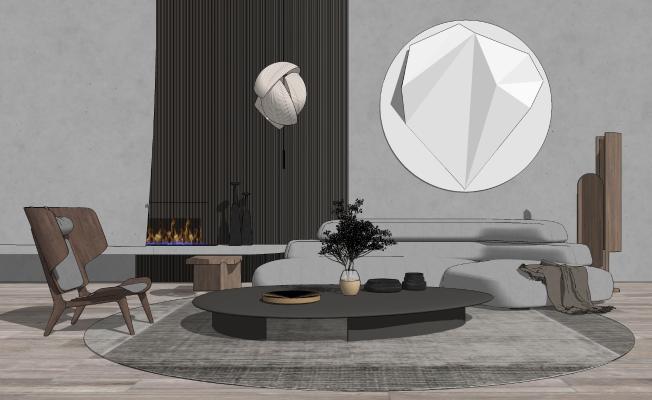 现代风格沙发茶几组合