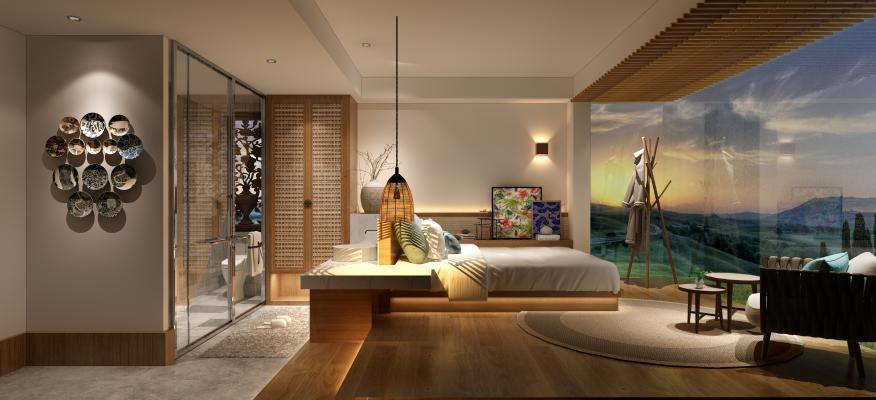 日式风格酒店客房