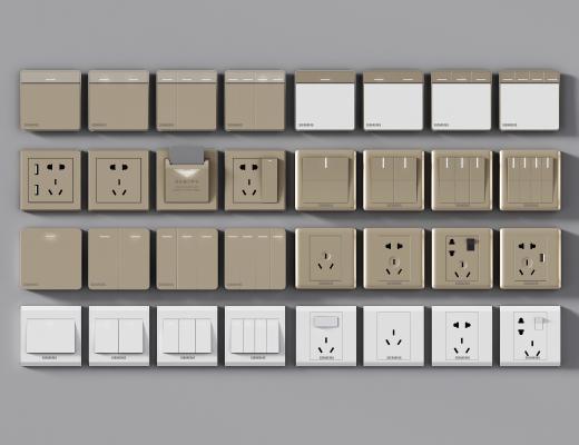现代插座开关 插座面板 网络插口