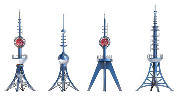 现代信号塔 装饰塔 通讯塔