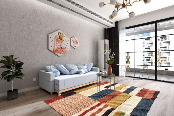 現代客廳沙發床