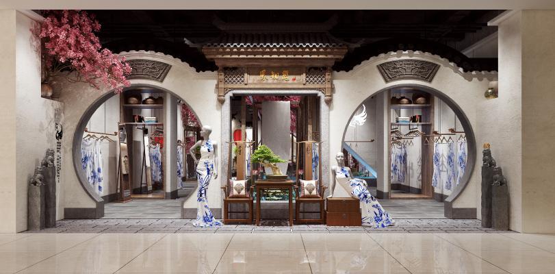 新中式旗袍店 旗袍 服装店