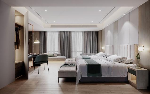 现代酒店客房 包间