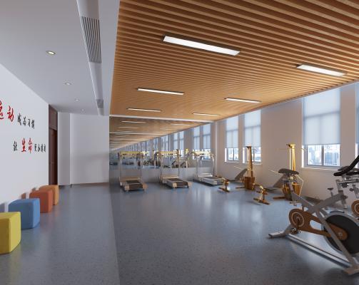 现代健身房活动室