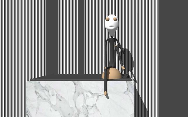 现代装饰品 雕塑