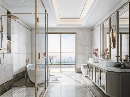 新中式卫生间 卫浴