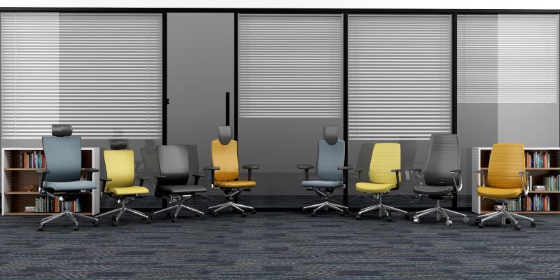 现代多种办公椅组合