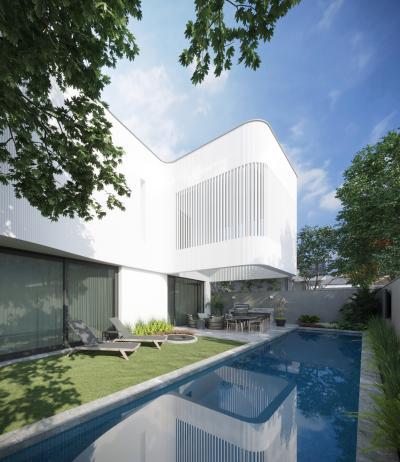 現代別墅庭院