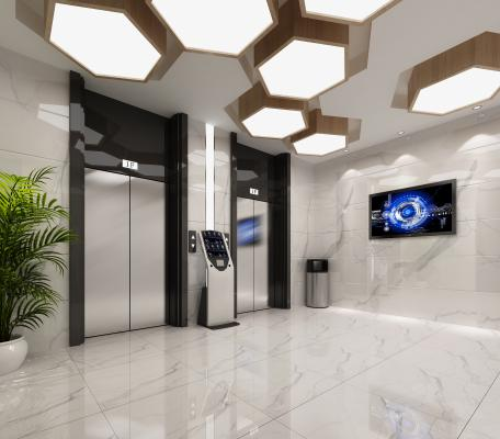 现代风格酒店过道 电梯间过道