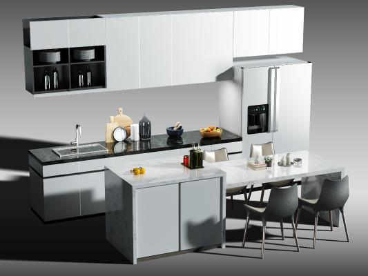 現代廚房櫥柜 廚具 中島柜