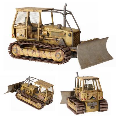 现代推土机 挖掘机 工程车