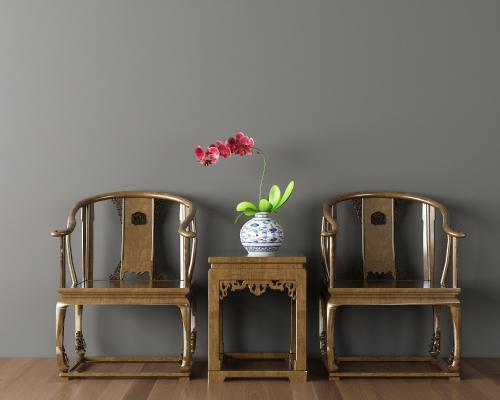 中式椅子茶几组合