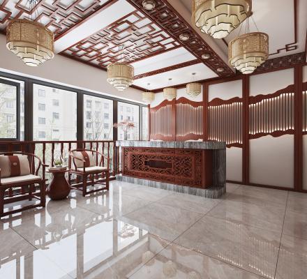 新中式国学教室 大厅