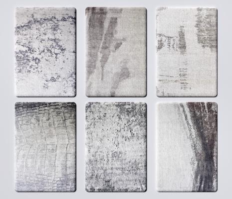 现代布艺地毯 图案地毯