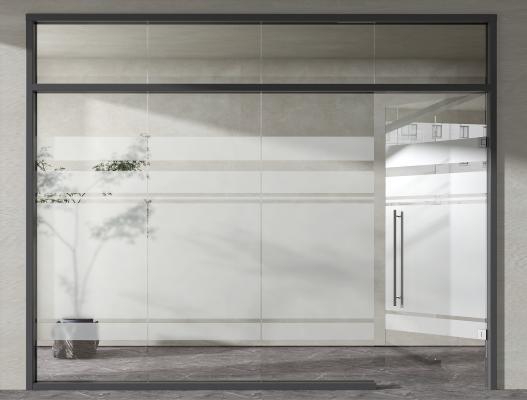 现代办公玻璃门