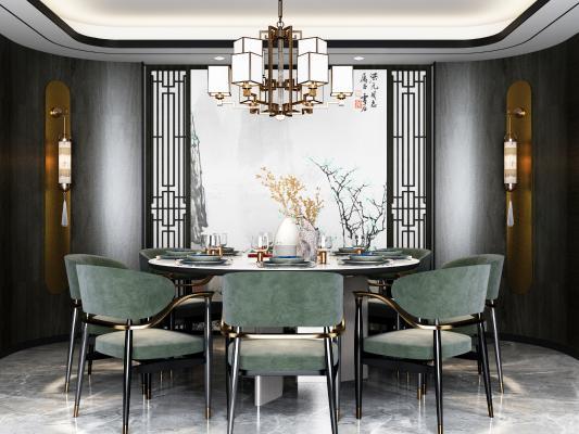 新中式餐厅 圆桌