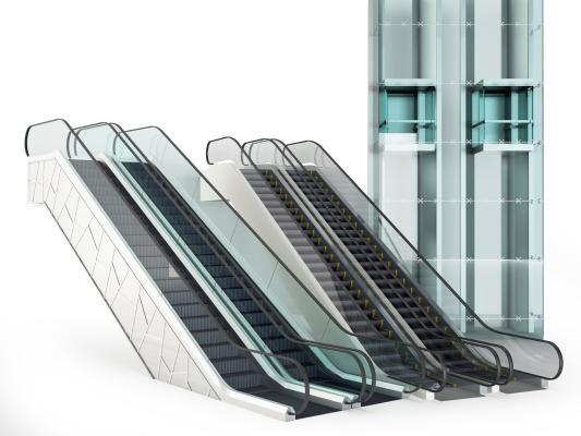 现代电梯 爬梯 扶梯