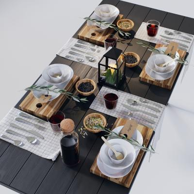现代餐具 摆件组合