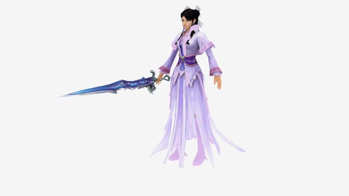 现代游戏 紫衣美女