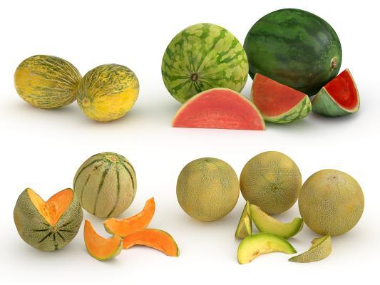 现代水果 西瓜 甜瓜
