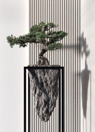 新中式植物摆件