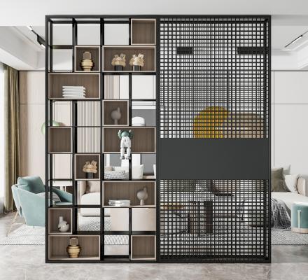 现代装饰柜架 隔断