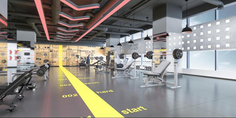 工业风健身房 运动器械