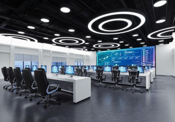 现代指挥中心 监控室 办公椅