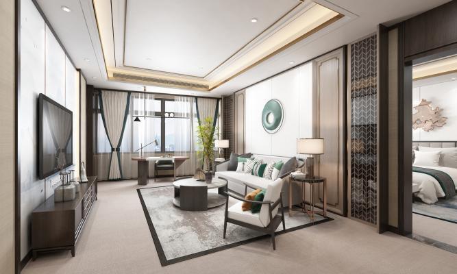 新中式酒店行政套房