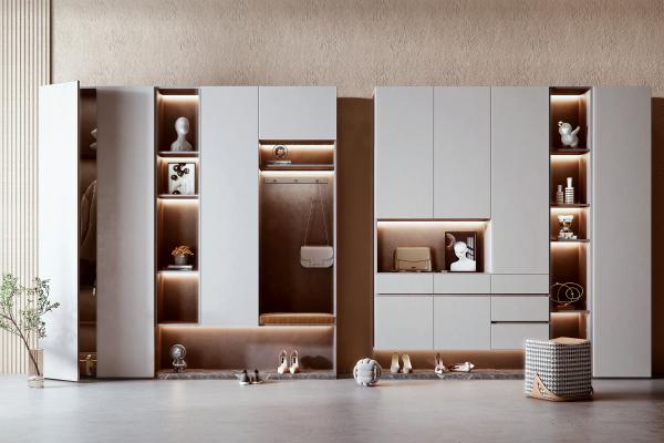 现代鞋柜组合 鞋子 服饰