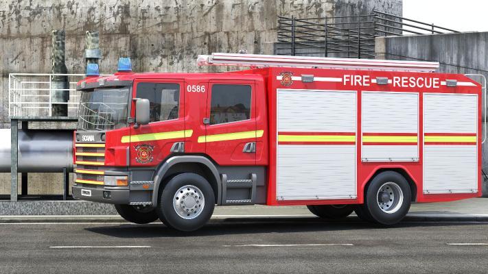 现代消防车